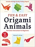 Fun and Easy Origami Animals: Full-Color Instructions for Beginners (includes 20 Sheets of 6 inch Origami Paper)