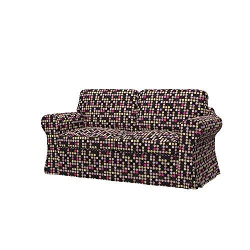 Soferia - IKEA EKTORP Funda para sofá Cama de 2 plazas, City Black