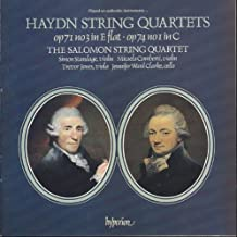 Haydn String Quartets: Op. 71 No. 3  in E flat /  Op. 74 No. 1 in C  The Salomon String Quartet