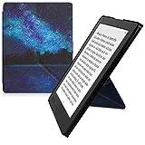 kwmobile Funda Compatible con Kobo Aura H2O Edition 2 - Carcasa magnética de Origami para e-Book - Cielo Estrellado Azul/Negro