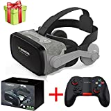 None Hot!2019 Shinecon Casque 9.0 VR Virtual Reality Goggles 3D Glasses Google Cardboard VR Headset Box for 4.0-6.3 inch Smartphone (Color : with Controller H)