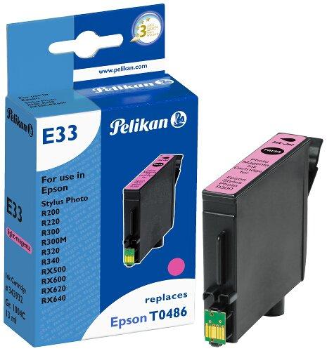 Pelikan 343932 - Cartucho de tinta Epson Stylus Photo R300, R200, 500, 600 - T0486 - Light Magenta