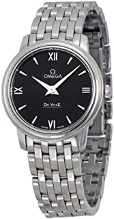 DeVille Prestige Black Dial Stainless Steel Ladies Watch 42410276001001