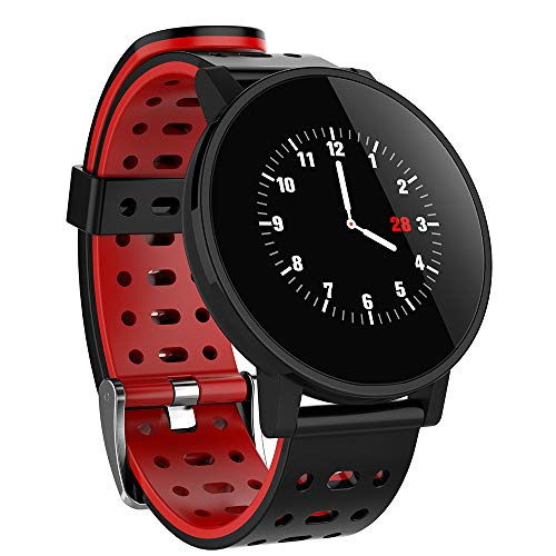 Jiayoyo Tracker Physik-Form, intelligente Armbanduhr mit Aktivitätsmonitor, Sport-Armband, Farbe T3, mit Herzfrequenzmonitor, wasserdicht, IP67, blau