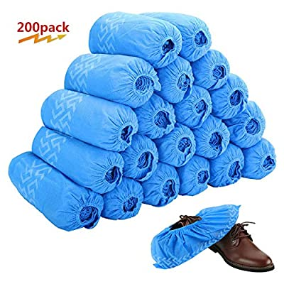 Disposable Boot & Shoe Covers 200 Pack (100 Pairs)   Non-Slip, Durable, Indoor   Protect Your Home, Floors and Shoes