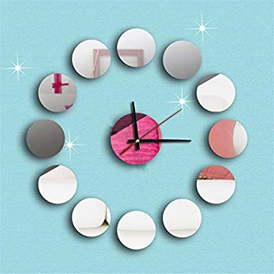 Gold Happy Stylish Vogue Modern Art Round Stickers DIY Mirror Wall Clock Stickers Home Decoration Creative