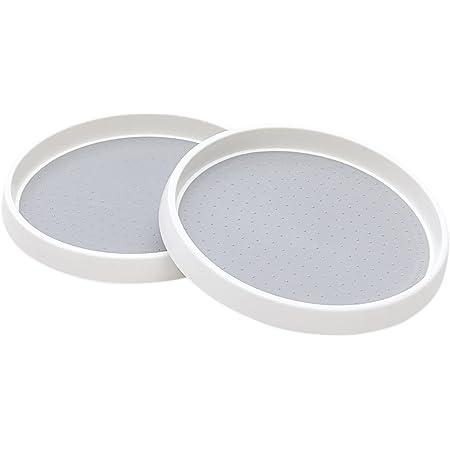 Roninkier Plateau Tournant Épices, Antidérapant Plateau Tournant Placard Cuisine pour Placard, Réfrigérateur, Épices, sans BPA, 25cm (2)