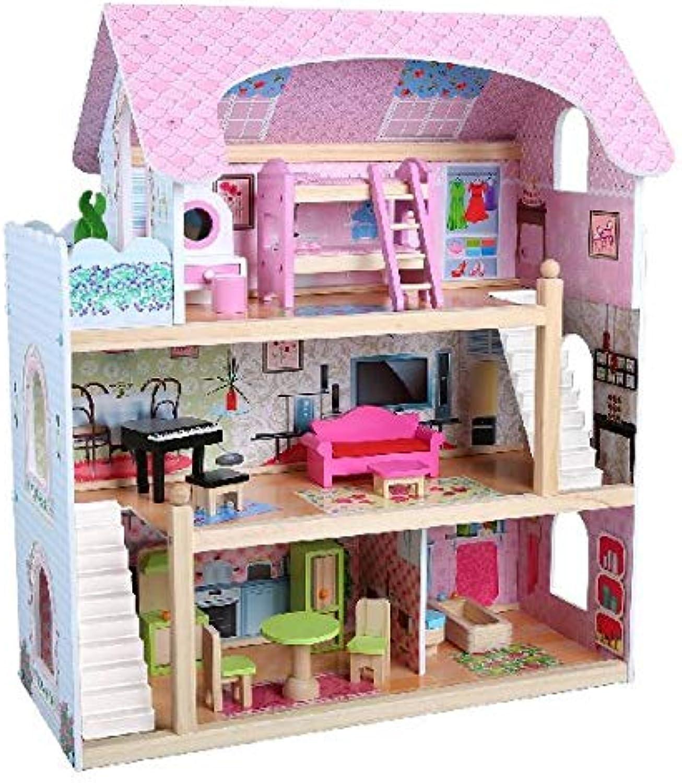 AK Sport 0550008 Holz Puppenhaus Und Acc, pink