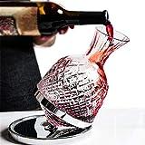 Decantador de vino de cristal hecho a mano, 1.5l CARAFE DE VINO DE VINOS, AROTANTER DE DECANTER DE VINO, VISTA DE LUGARES, LUJO DE LUJO DE VINO PARA EL DÍA DE PADRE DE NAVIDAD, TIPO ROTARIO (TAMAÑO: 1