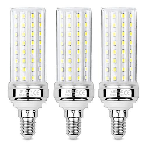 Sauglae 20W LED Mais Glühbirnen, 150W Glühlampen Äquivalent, 4000K Neutralweiß, 2000Lm, E14 Kleine Edison Schraube Glühbirnen, 3 Stück