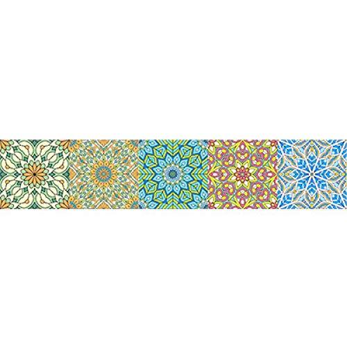 ivAZW Etiqueta engomada Colorida de la Pared del Piso de baldosas Cocina Baño Aseo Decoración Cartel DIY Etiqueta de la Pared 10x50cm 4