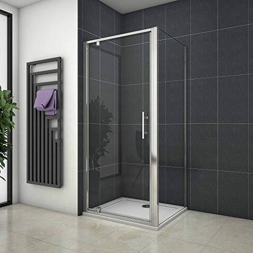 Pendeldeuren 100x185cm,douchedeur, zijpaneel 80cm, douchecabine,6mm helder veiligheidsglas,taatsdeur in kozijn