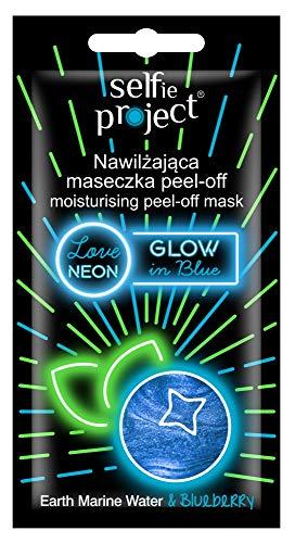 Selfie Project Moisturising Neon Peel-Off Mask #GlowInBlue, 10 g