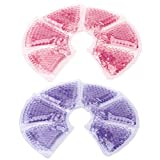 2Pcs Breast Therapy Breast Pads Gel Bead Ice Pack Reusable Hot/Cold Nursing Pad Breastfeeding Relief Set for Nursing Mothers to Decrease Engorgement Encourage Let-Down and Increase Milk Production