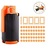 FenglinTech Tactical Plastic CS Grenade with 10,000PCS Hardened Crystal Water Beads Bullet - (Orange)