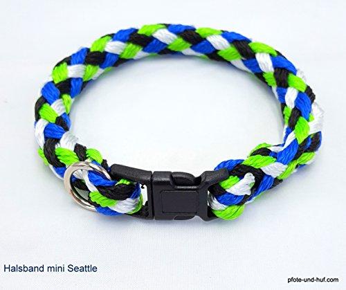 elropet Hundehalsband Mini für die Kleinen rundgeflochten Tauwerk Seattle (33cm)