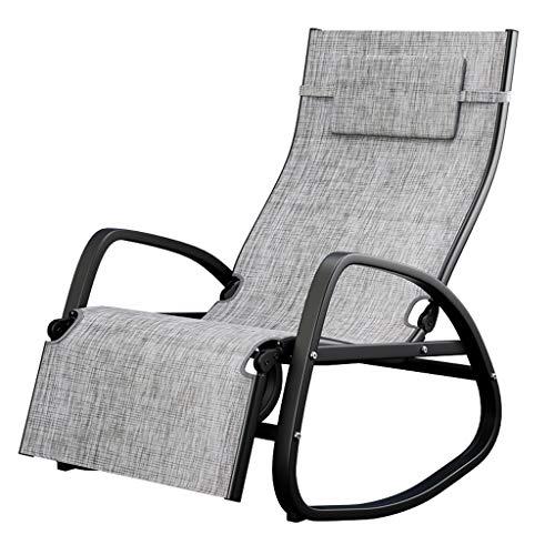 Silla Mecedora Siesta para Adultos Silla reclinable Balcón Lazy Rattan Chair Easy Chair Silla Meced