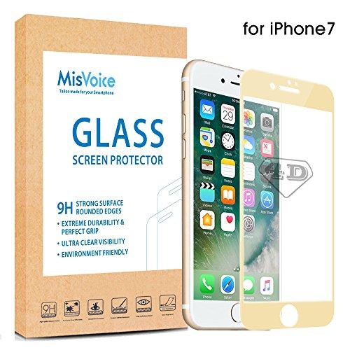 iPhone 7 Full Cover Vidrio Cristal Templado Completo Curvo 4D,MisVoice Protector de...