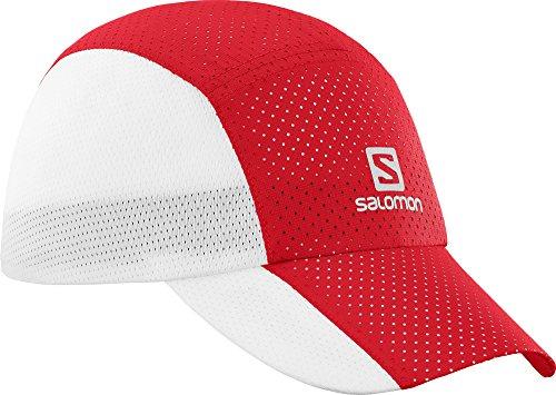 Salomon Unisexe Casquette en Maille, Imperméable, XT COMPACT CAP, Taille Unique Ajustable, Rouge , L40048600