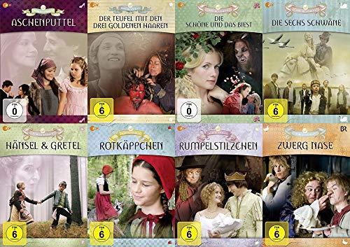 8er Märchenperlen Collection – Aschenputtel + Die Sechs Schwäne + Rotkäppchen + Rumpelstilzchen + Zwerg Nase + Der Teufel mit d