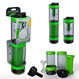 Intelishake - Bottiglia (2 x 500ml) Shaker con Filtro A Carbone Acqua Multi-Scomparto per ...