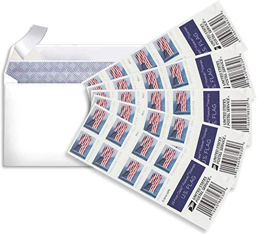 My Postage Stamps Envelope for 2019 Releases USPS Postage Stamp (5 Sheets Total 100 Stamps)