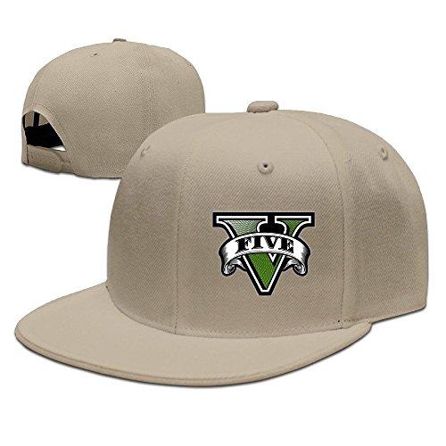 Hittings GTA Five Logo Baseball Cap Hip-Hop Style Natural
