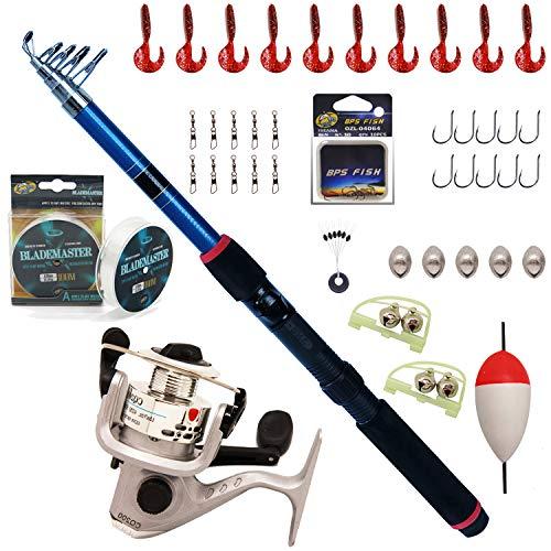 BPS Kit Combo de Pesca Incluye Caña de Pescar Spinning