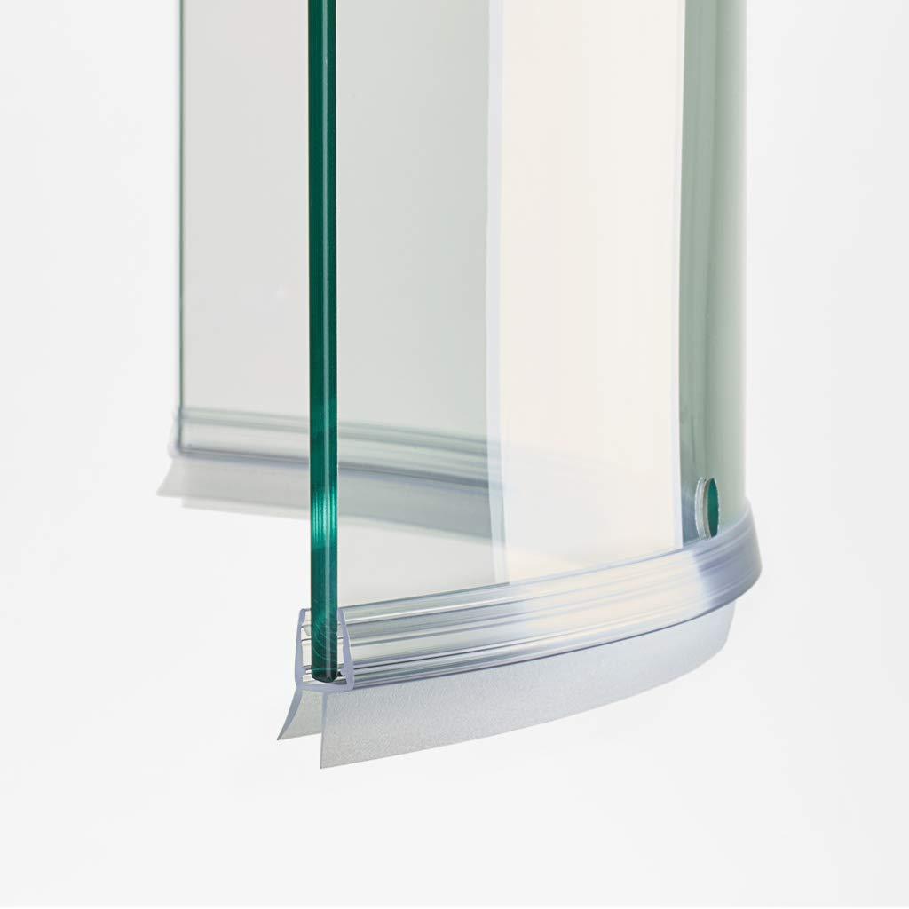 100 cm ec-402-c Junta Curva mampara de ducha con escurridor para cristales de grosor de 6 y 8 mm: Amazon.es: Bricolaje y herramientas