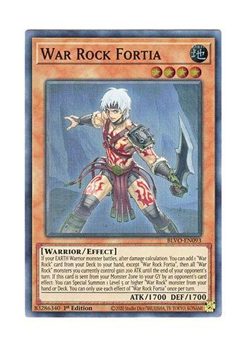 遊戯王 英語版 BLVO-EN093 War Rock Fortia (スーパーレア) 1st Edition