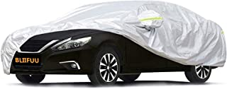 Bliifuu Sedan Car Cover UV Protection Car Cover for Outdoor Indoor Waterproof/Windproof/Snowproof, Full Size Breathable Cover Fit Sedan Car up to 200 Inch Long
