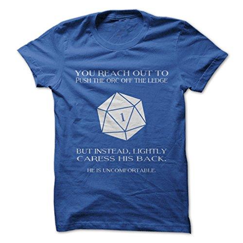 Gnarly Tees Men's Dungeons and Dragons T-Shirt 2XL Royal Blue