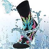 SuMade Waterproof Socks for Skiing, Women Novelty Daily Fashion Seamless Toe Breathable Sports Rain...