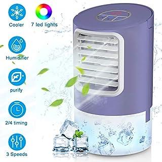 Laluztop - Enfriador de aire acondicionado, pequeño espacio personal, refrigerador y humidificador, ventilador de escritorio, refrigeración para el hogar, habitación y oficina