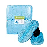 SHEEFLY 100 Pack Disposable Boot Shoe Covers, Water Resistant, Non-Slip,Durable Recyclable...