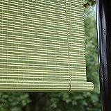 Persiana Enrollable De Bambú,Retro Cortina de Bambú Estores Enrollables,para Decoración Interior Exterior Puertas Ventanas, Tasa de Sombreado 65% Respirable,Verde,Personalizable (70x100cm/28x39in)