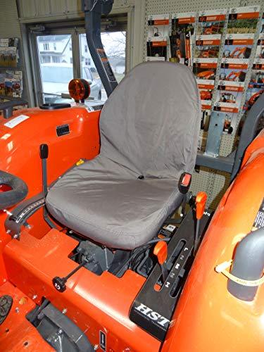 Durafit Seat Covers, KU20 Kubota Gray Waterproof Seat Covers for Tractor MX4800,MX5000,MX5200,MX 5800, M5660 SUH/SUHD, Z221R Mower Zero Turn Mower. -  KU20 C8