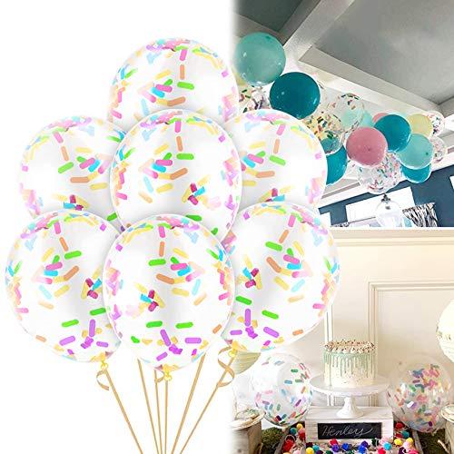 globos confeti colores,paquete de globos de confeti,globos de látex de confeti,globos de confeti transparente,globos de confeti para decoraciones fiesta cumpleaños