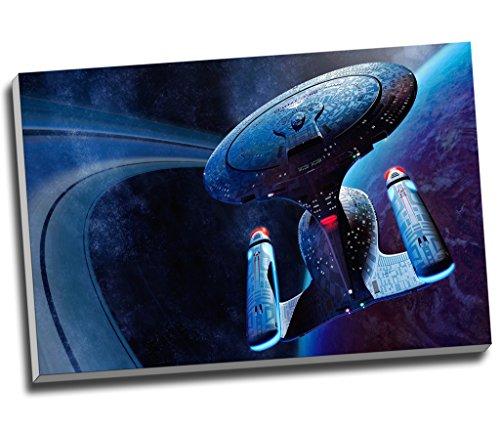 Star Trek Raumschiff Enterprise Movie Leinwanddruck, Wandkunst, Bild, Leinwanddruck, groß, A1, 76,2 x 50,8 cm