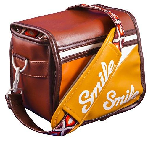 Smile 70s Style - Bolsa reversible para cámara réflex (DSLR), mirrorless, compacta,...