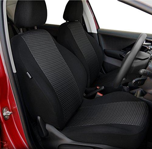 DKMOTO DK419 maßgeschneiderte Autositzbezüge für Peugeot 206 1998-2012 schwarz