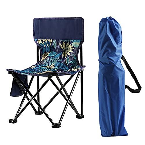Wopam Silla plegable para exterior, taburete de tela Oxford, ligera, para pesca, camping