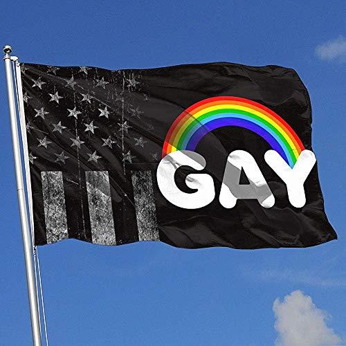 Elaine-Shop vlaggen voor buiten, VS-vlag, regenboogsymbolen Gay vlag, 4 x 6 ft voor thuisdecoratie, sportfans, voetbal, basketbal, baseball hockey