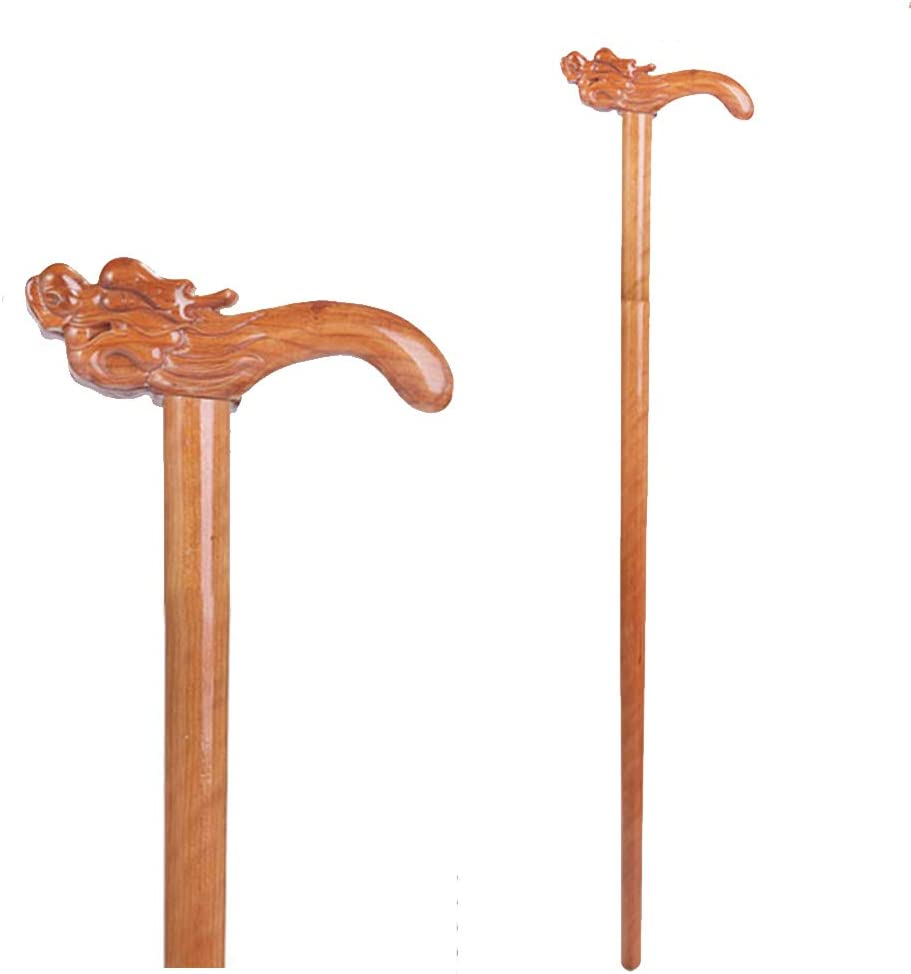 Elderly supplies Old Wooden Cane W Faucet Sale SALE% OFF Mahogany Carved Solid Reservation