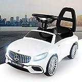 Eco Toys Rutschauto Mercedes-Benz S65 AMG mit Frontlichter & Sound Rutscher Kinderauto Rutschfahrzeug (Weiß)