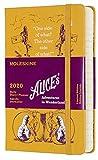 Moleskine Agenda Giornaliera 12 Mesi, anno 2020 Alice nel Paese delle Meraviglie Special Edition Giallo con Copertina Rigida e Chiusura ad Elastico, Dimensione Pocket 9 x 14 cm, 400 Pagine