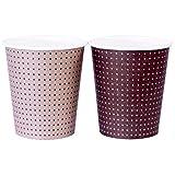 ペーパーカップ ポイントパターン カップ 205ml(7oz) 100個入り(3色込み) 業務用 C20100PPT