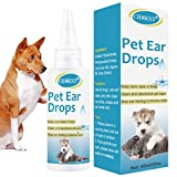 CIDBEST Dog Ear Cleaner, Pets Ear Drops, Ear Infection Treatment, Clean and Deodorize, Keep Ears Clean&Fresh, Natural Aloe Vera-60ml