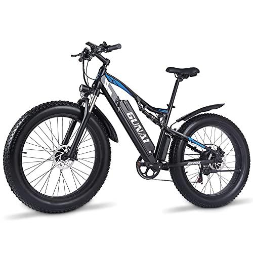 GUNAI Elektrofahrrad 1000w Herren 26 Zoll Fat Tire Mountainbike mit Abnehmbarer 48V 17AH Lithium-Ionen-Batterie und Doppelte Stoßdämpfung