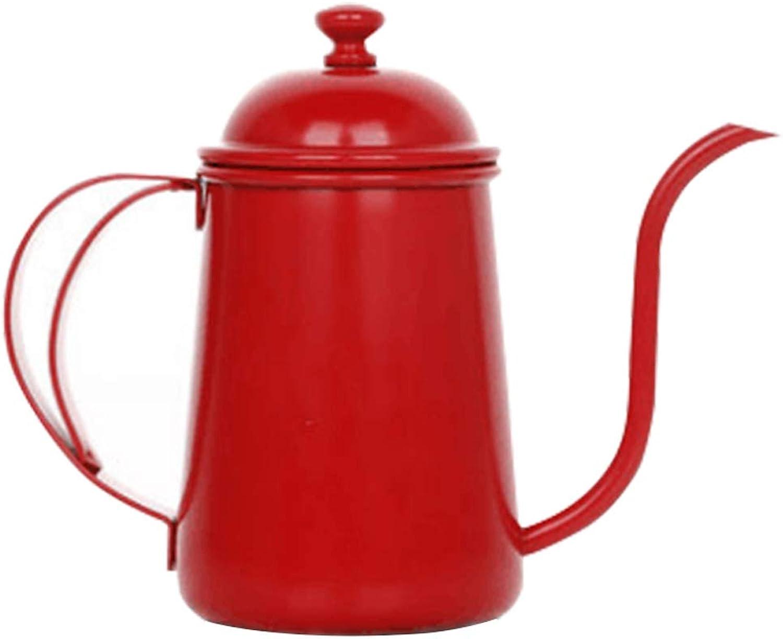 venta con descuento YSDHE Cafetera Lavada a a a Mano, Olla de Boca Fina, Olla de Palacio, menaje de Acero Inoxidable, Tetera, Boca Larga, regadera de Goteo. (Color   Rojo)  Ven a elegir tu propio estilo deportivo.